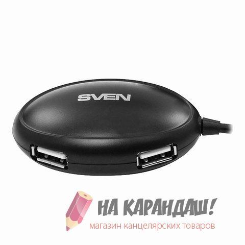 Хаб 4порт.1.2м Sven HB-401 usb 2.0 черн SV-012830