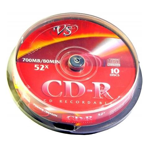 CD-R 700Mb Cake 10шт VS VSCDRCB1001 20083