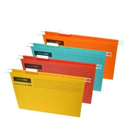 Файл подвесной А4 карт Economix цв mix E30202