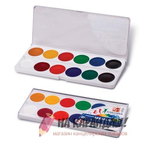 Краски акварельные медовые 12 цветов Классика 19С1286-08