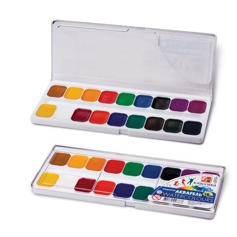 Краски акварельные медовые 18 цветов Классика 19С1292-08