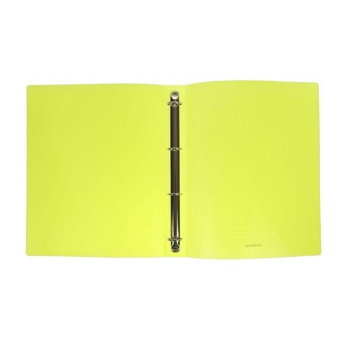 Папка 4-к А4 35мм EK Glance Neon желт 42973