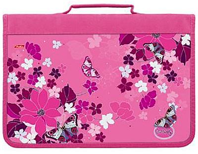 Папка д/тетр A4 н/молн Butterfly Hatber 48003