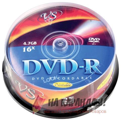 DVD-R 4.7Gb Cake 25шт VS VSDVDRIPCB2501 20342