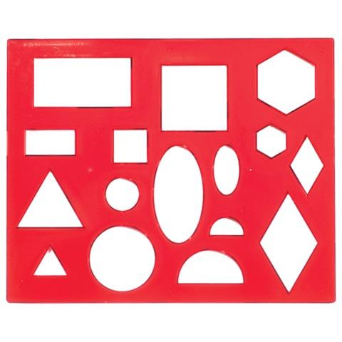 Трафарет геометрических фигур №1 12С836-08