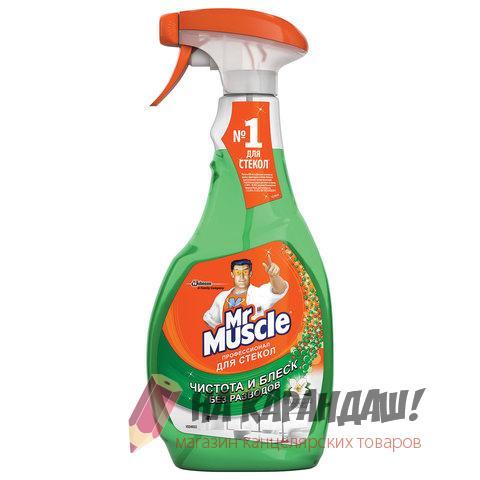 Средство для мытья стекол 500мл Мистер Мускул с нашатырным спиртом 00153