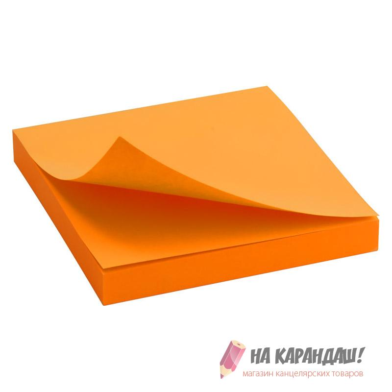Стикер 75*75*80л D3414-15 Neon я-оранж /24/