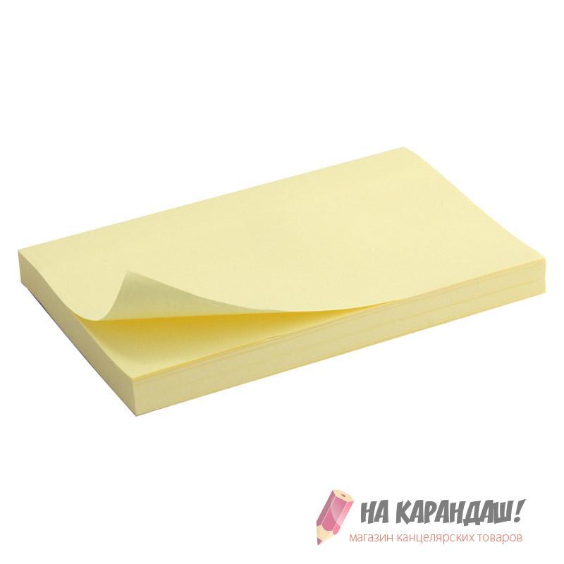 Стикер 75*125*100л D3316-01 Past желт /24/