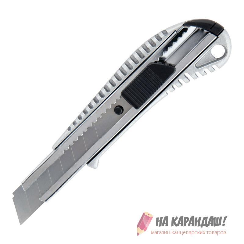 Нож канц 18мм мет мех авт фикс АХ-6902 /12/