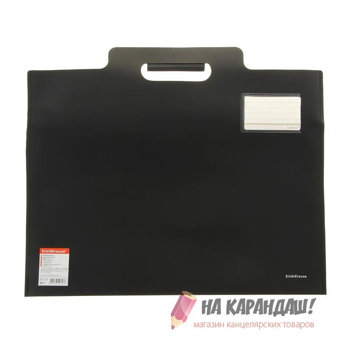 Портфель пластиковый А3 с вырубной ручкой 12318