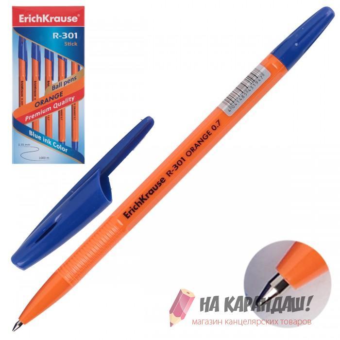 Ручка шариковая EK R-301 Orange Stik 0.7мм син 43194
