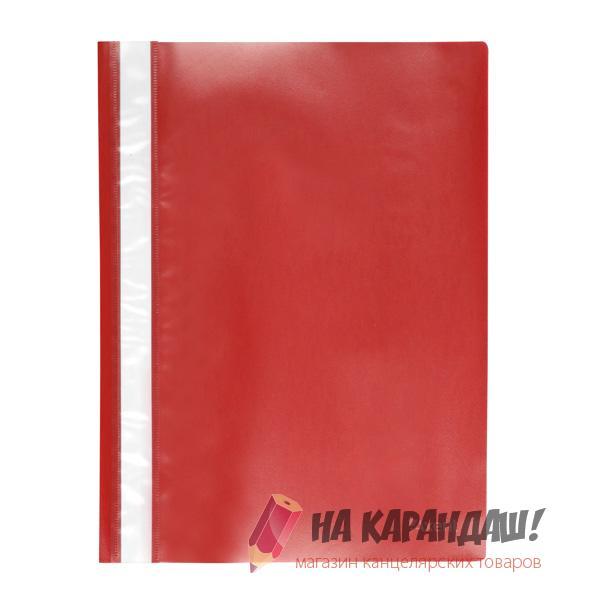 Скоросшиватель А4 120/150мкм красный 1317-24