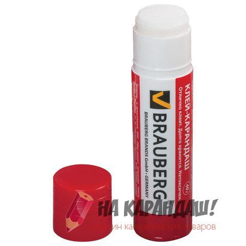 Клей-карандаш 40гр Brauberg 222928