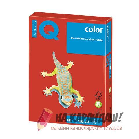 Бумага цв А4 (100л) 80г in-кораллово-красный CO44 07807