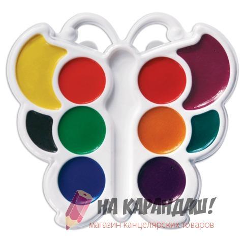Краски акварельные медовые 10 цветов Кроха  Бабочка 10С548-08