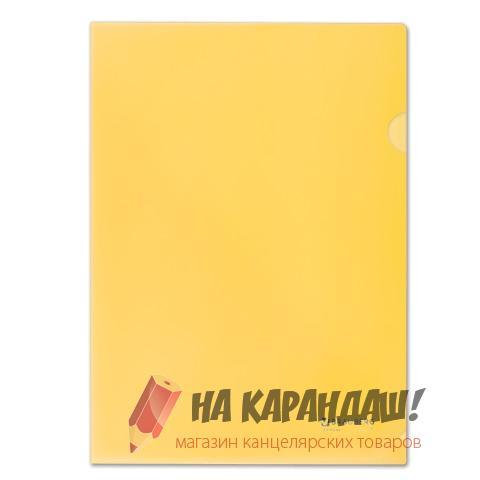 Папка-уголок А4 Brauberg 150мк желтая 223968
