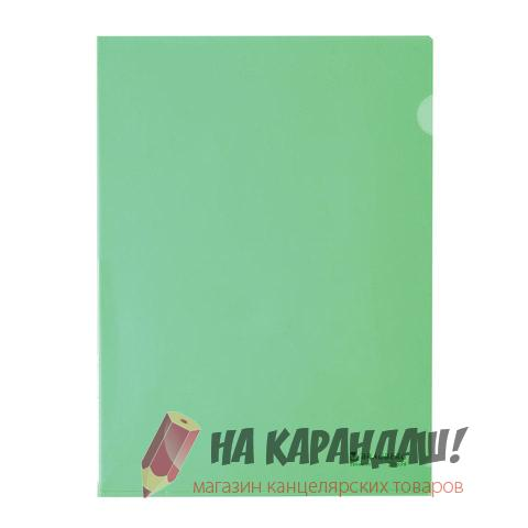 Папка-уголок А4 Brauberg 150мк зеленая 221639