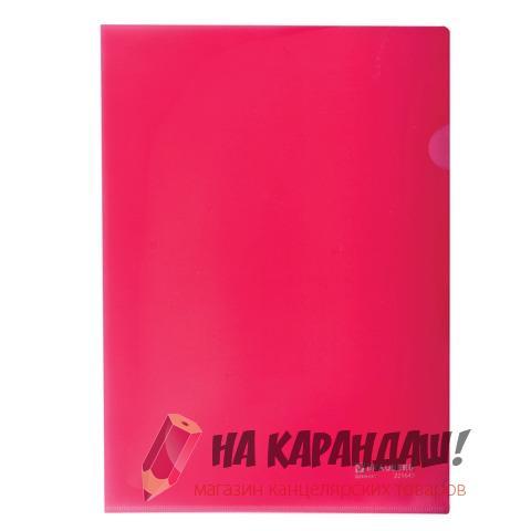 Папка-уголок А4 Brauberg 150мк красная 221640