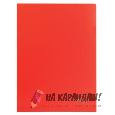 Папка-уголок А4 Brauberg 150мк н/пр красная 224879
