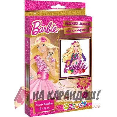 Набор для детского творчества Вышивка лентами Barbie Ткань+нитки+ленты+игла+инструкция BRCA-UA1-MR1-BOX
