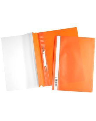 Скоросшиватель А4 120/160мкм оранжевый ASp_04316