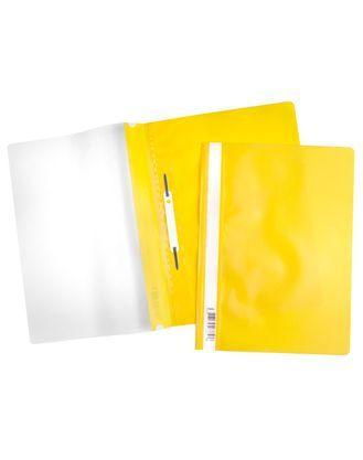Скоросшиватель А4 120/160мкм желтый ASp_04305