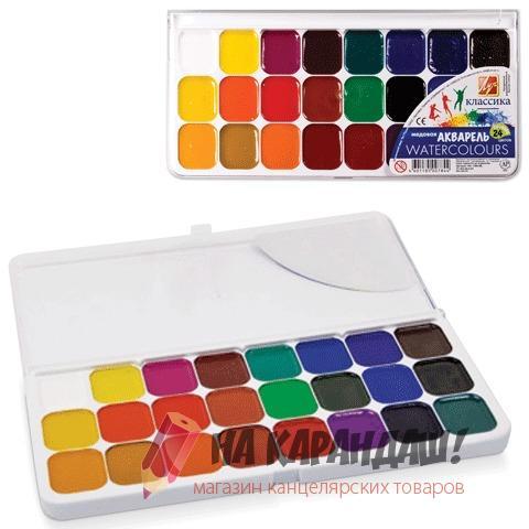 Краски акварельные медовые 24 цвета Классика 19С1294-08