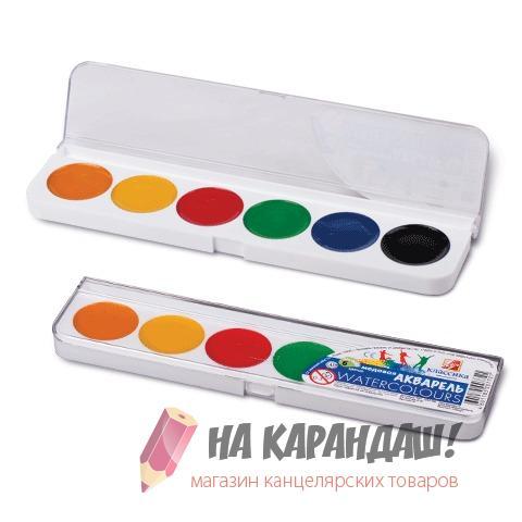 Краски акварельные медовые 6 цветов Классика 19С1282-08
