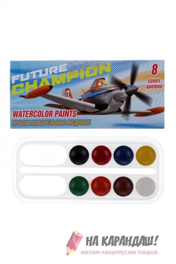 Краски акварельные медовые 8 цветов Planes PLBB-US1-PNT-BOX8