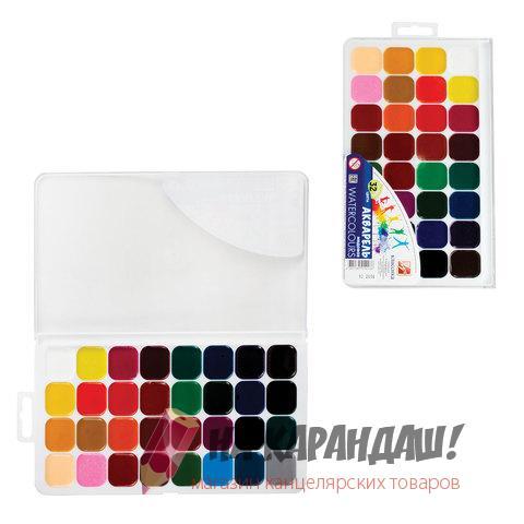 Краски акварельные медовые 32 цвета Классика 26С1579-08