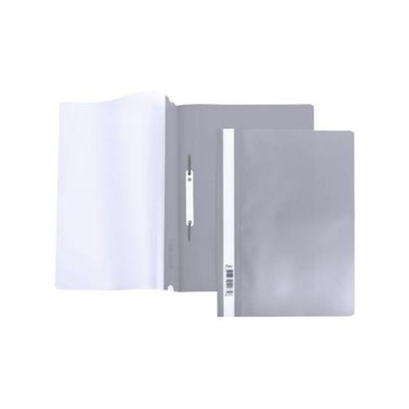 Скоросшив А4 140/180мкм серый AS4_00108