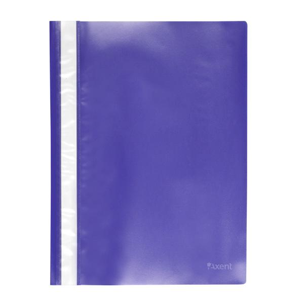 Скоросшиватель А4 120/150мкм синий 1317-02