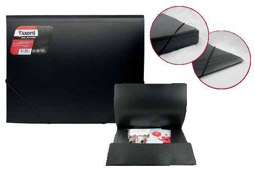 Папка на резинках А3 Axent 1506-01 550мк 35мм н/пр черная