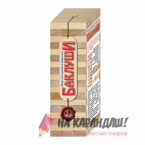 """Игра настольная деревянные блоки Башня """"Баклуши"""" 10к 01505"""