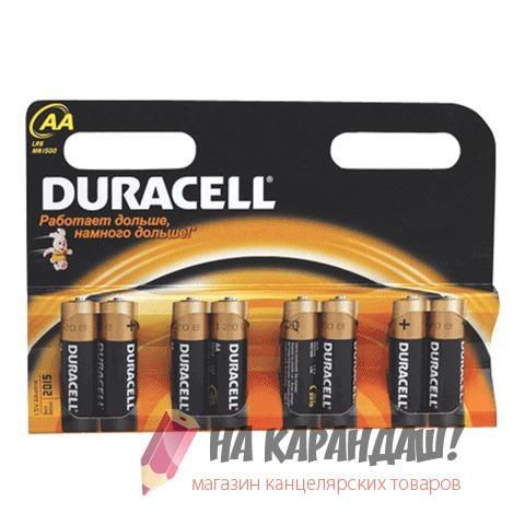 Батарейки Duracell AA LR6 8шт/уп 450431