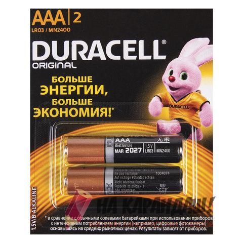 Батарейки Duracell Basic AAA LR03 2BL 2шт/уп 452851 шк5484