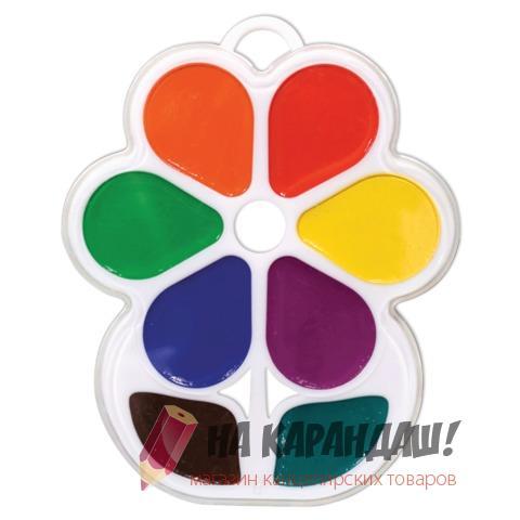 Краски акварельные медовые 8 цветов Кроха Цветочек 18С1183-08