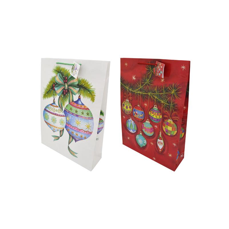 Пакет подарочный лам 33*45.7*10.2см блеск крошка N13062/А 27757
