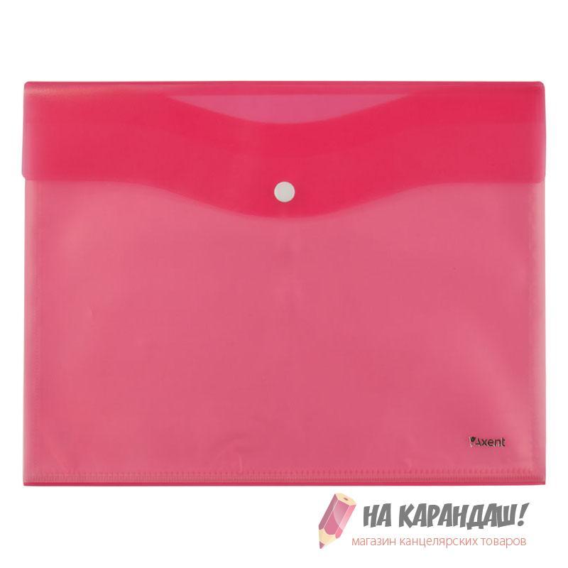 Конверт на кнопке А4 AX1423-10 180мк 5ф розов