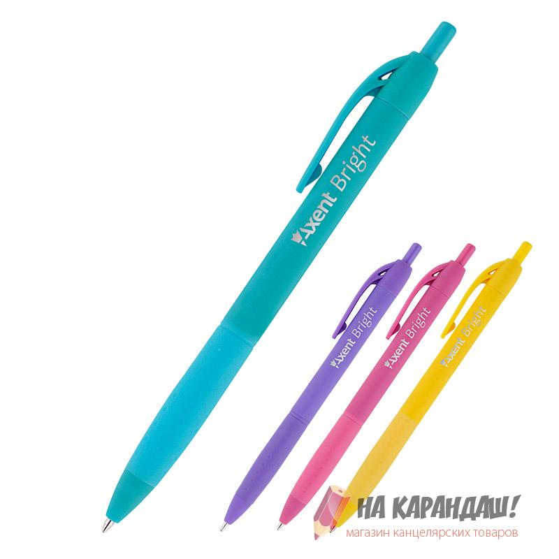 Ручка шарик автомат AX Bright син AB1079-02