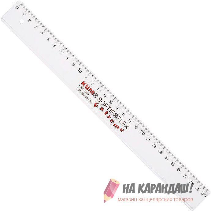 Линейка гибкая 30см прозрачная Softie Flex K-L03 2250519