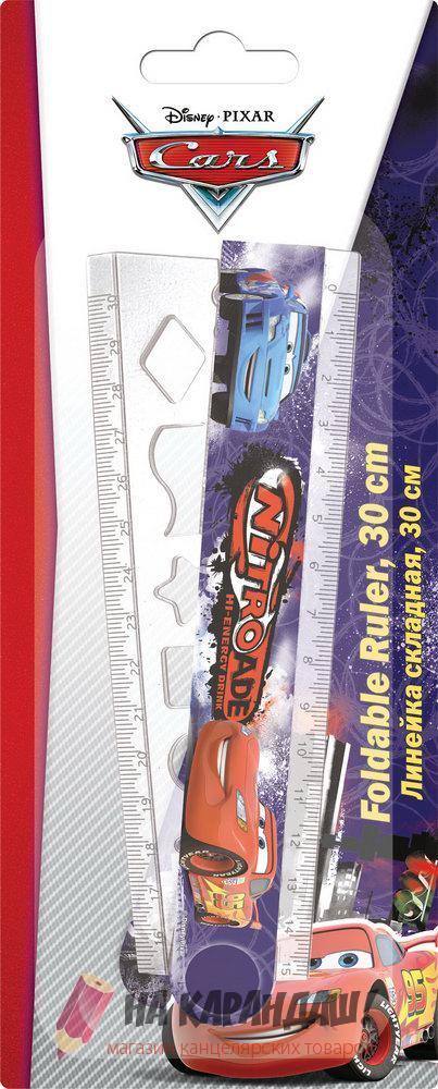 Линейка раскладная 15см-30см с трафаретом Cars CRCB-US1-201-BL1