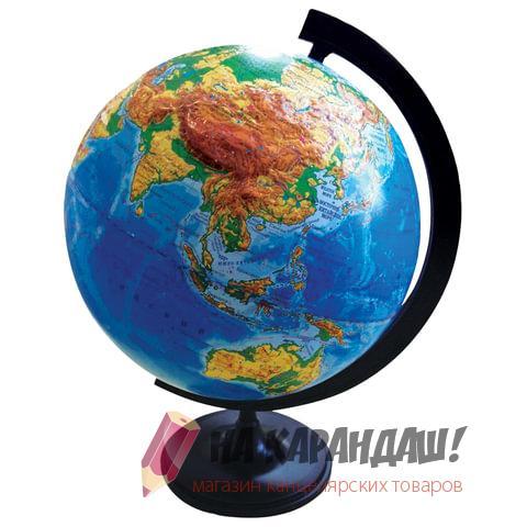 Глобус рус D320мм физический рельефный 10196
