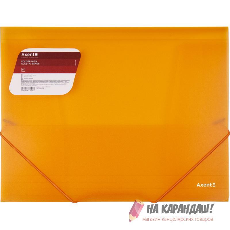 Папка н/рез А4 Axent 1501-25 600мк 35мм прозр оранж /20/