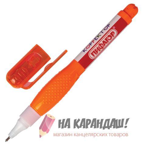 Корректор-ручка 6мл мет/нк Пифагор 227145 /12/