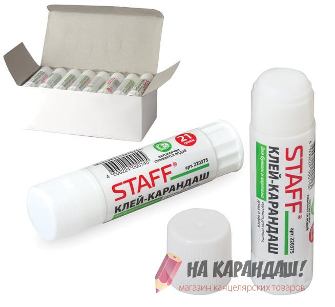 Клей-карандаш Staff 21 гр PVA 220375