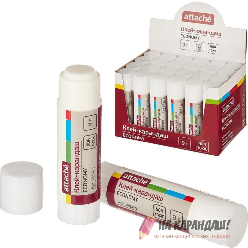 Клей-карандаш Attache Economy 9 гр PVA 255475