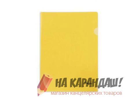 Папка-уголок А4 Hatber 180мк AG4_00105 прозр жел