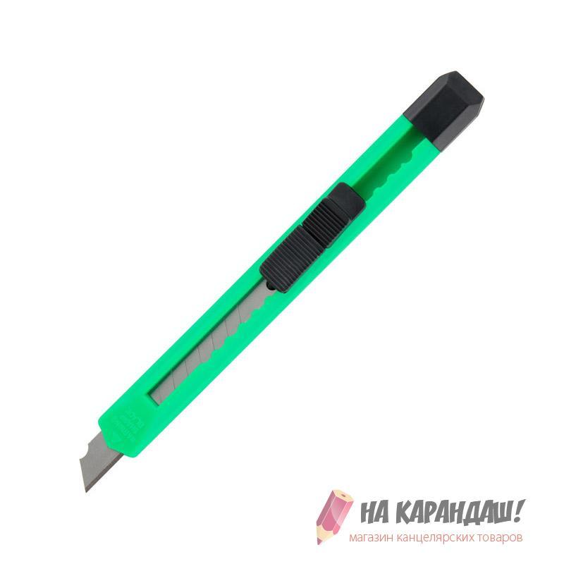Нож канц 9мм пл D6525 зеленый
