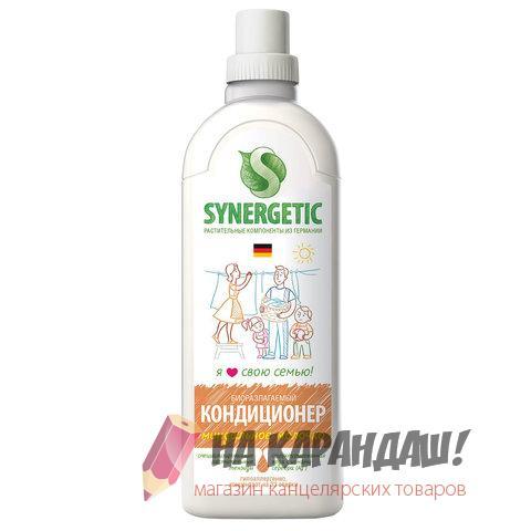 """Кондиционер-ополаскиватель 1л Synergetic """"Миндальное молочко"""" 605550"""